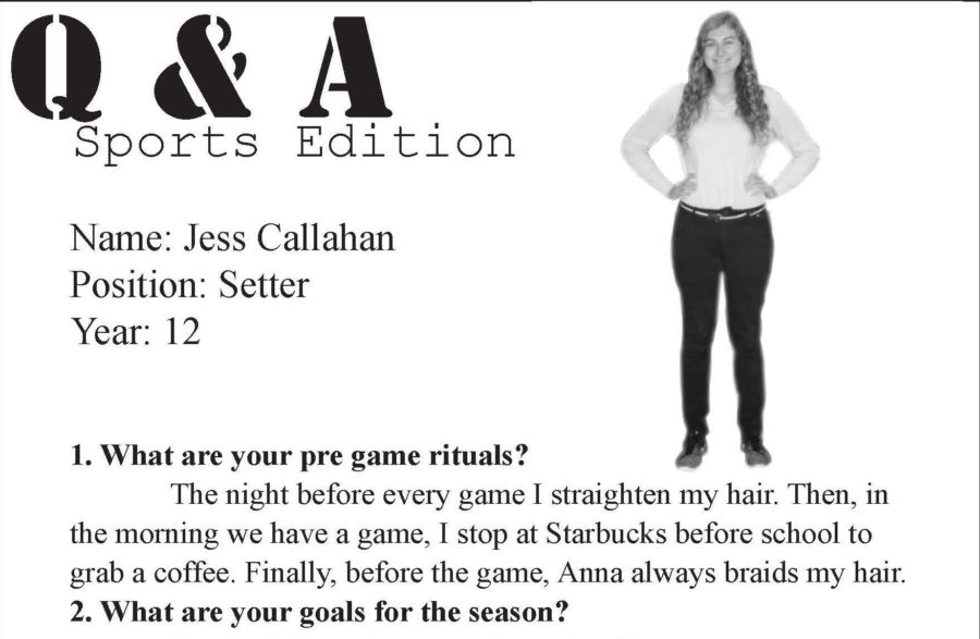 Sports Q & A with Jess Callahan