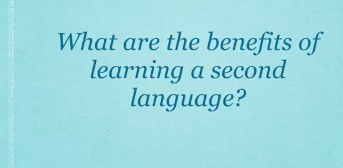 advantages of learning a second language And besides the obvious practical benefits learning a foreign language provides,  it has been demonstrated to improve memory and brain.