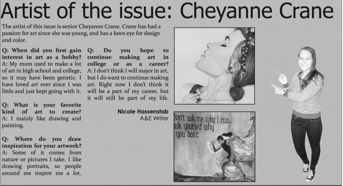 Artist of the issue: Cheyanne Crane