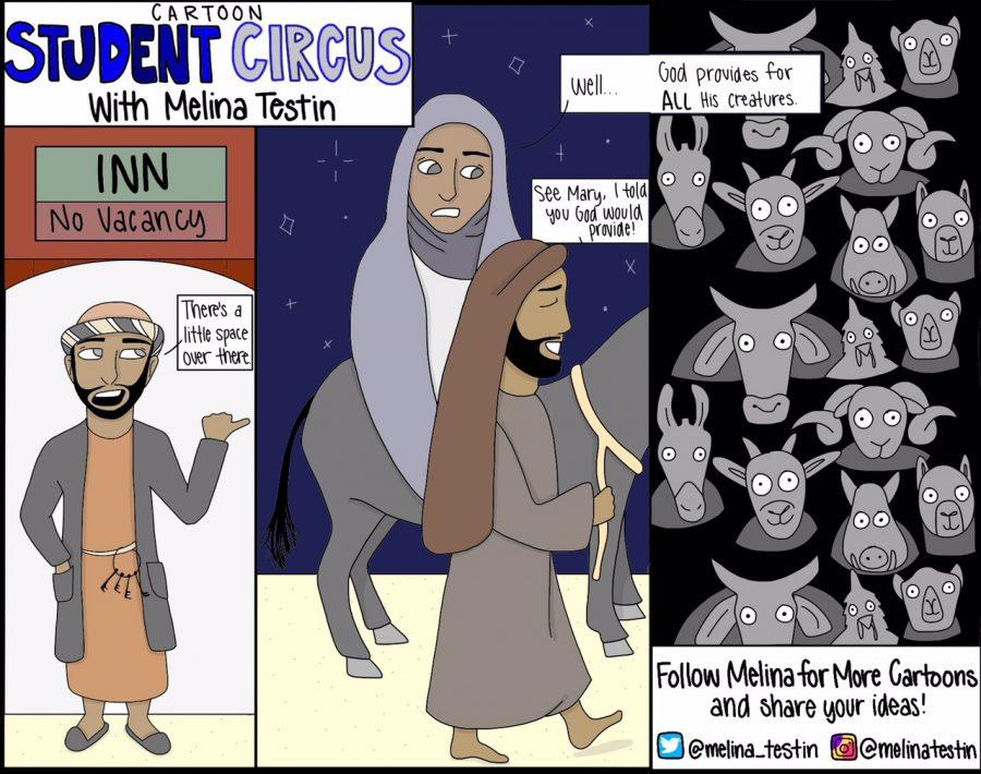 Cartoon Student Circus