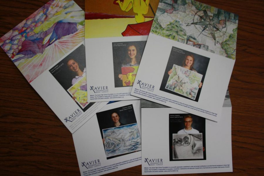 The Foundation's cards showcase students' art. Maddy Andresen Photo.