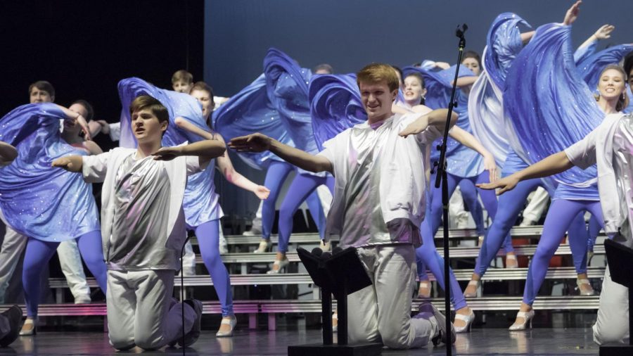 """Xhilaration performs during day rounds at """"Viterbo 101"""" in La Crosse, Wisconsin. Michele Maier Photo."""