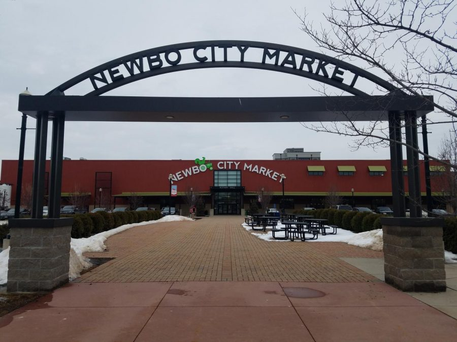 The entrance to Newbo City Market where Newbo Evolve will take place in August. Keaton Maier Photo.