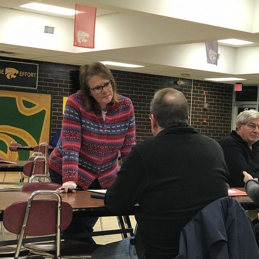 Teresa Daubitz participates in the Iowa Caucus.