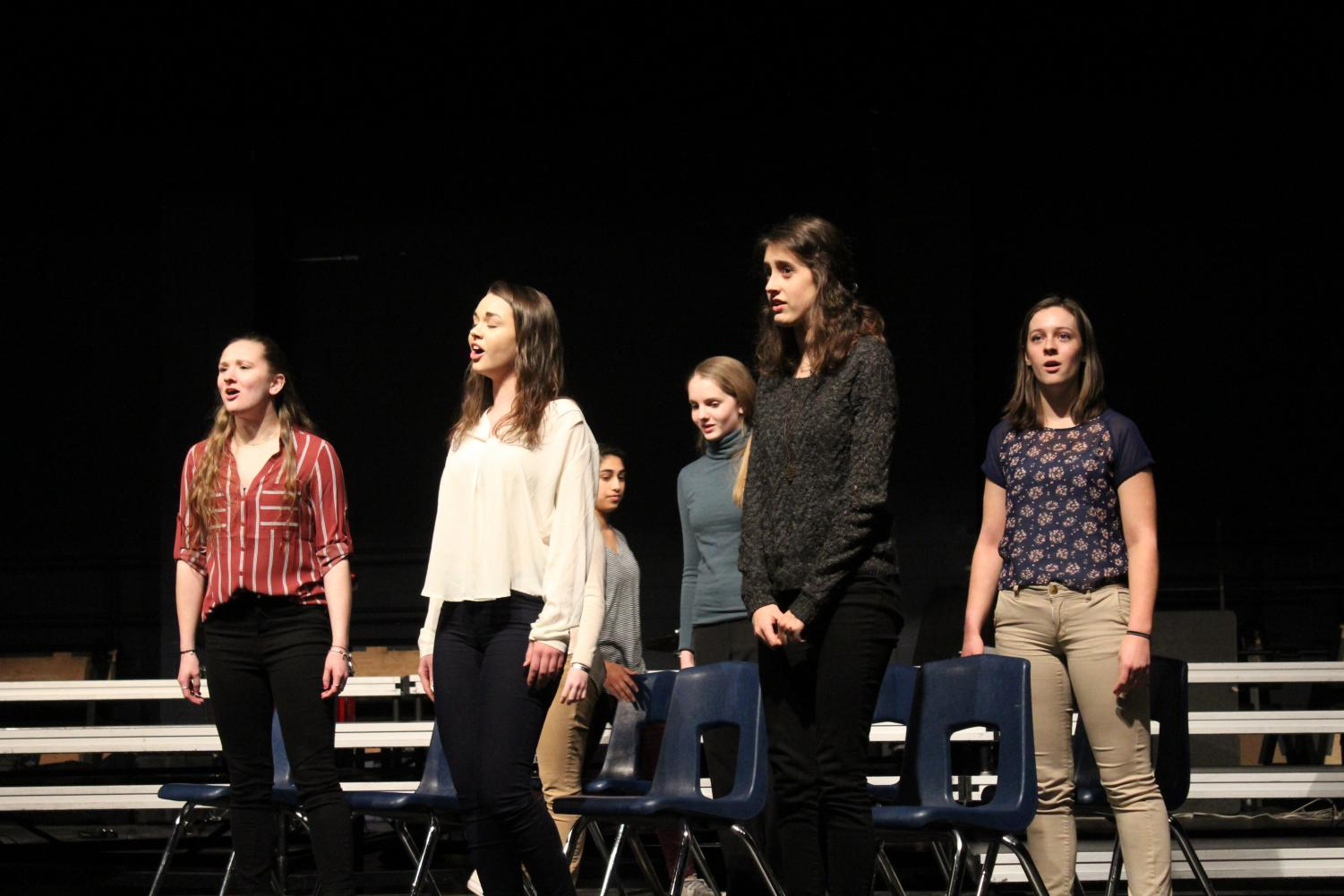Speech members perform an exerpt from Sister Act the musical. Camryn McPherson Photo.