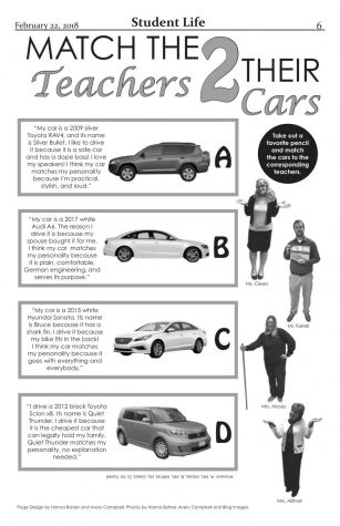 Match the Teachers to their cars