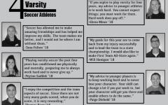 4 year varsity soccer athletes