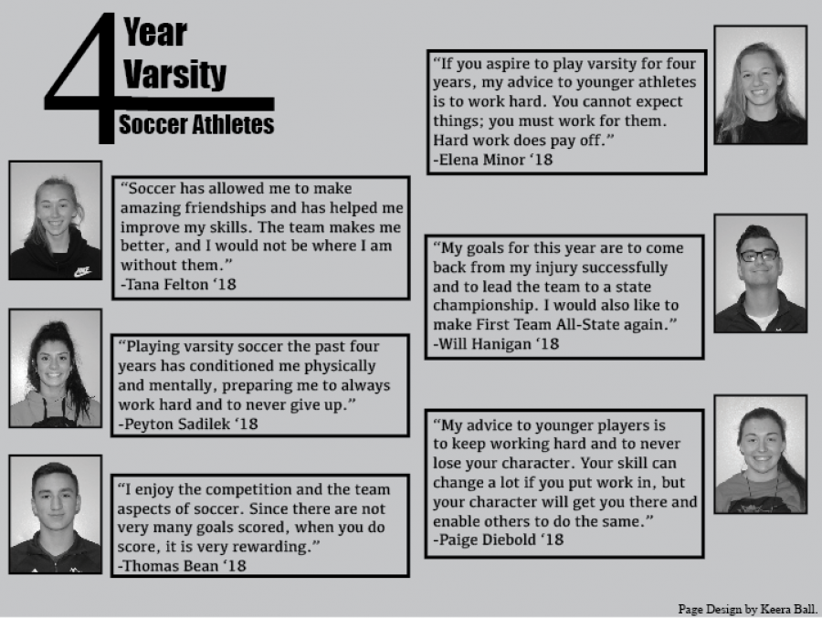 4 year varsity soccer athletes