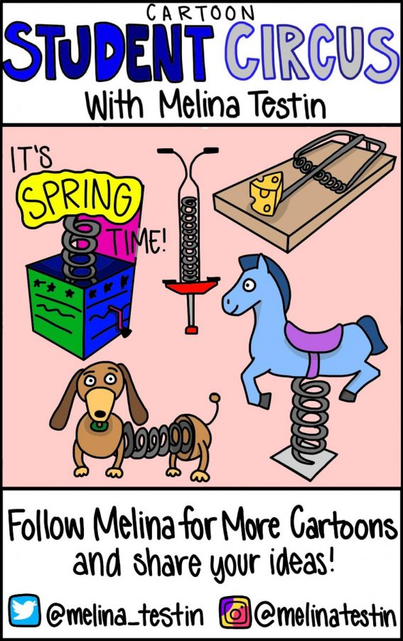 Cartoon Student Circus: It's Spring Time