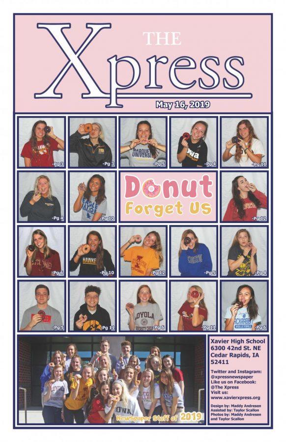 Senior issue cover 5/16/19