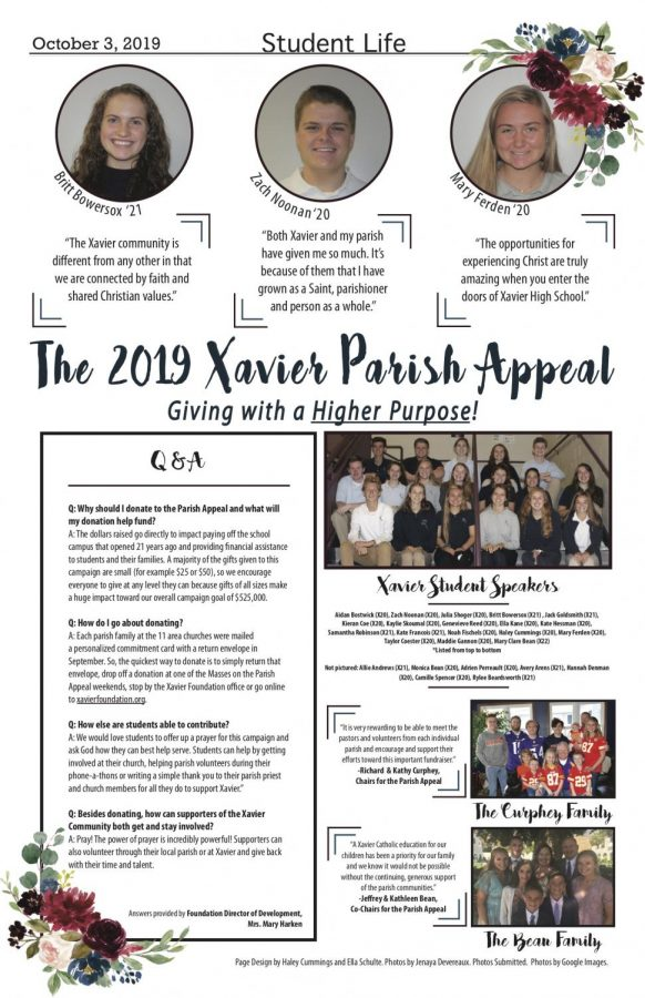 The 2019 Xavier Parish Appeal