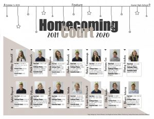 Homecoming court 2019-2020