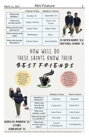 How well do these saints know their best friend?