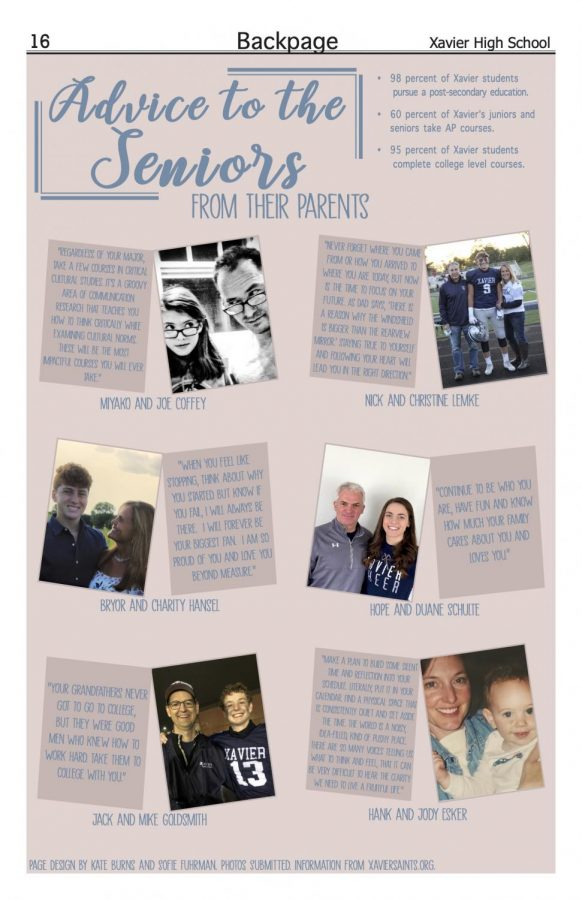 Advice to the seniors from their parents